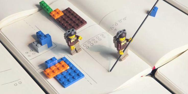 Lego notebooks encourage fun in the writing process. #LegoMoleskine - happyfication