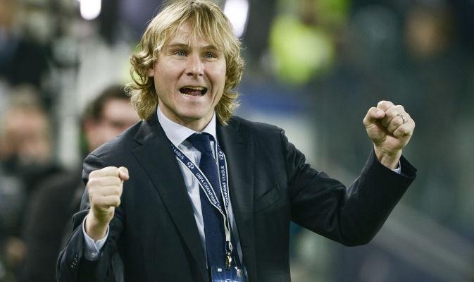 Juventus vs. Bayern Monaco  Pavel Nedved sotto la Sud