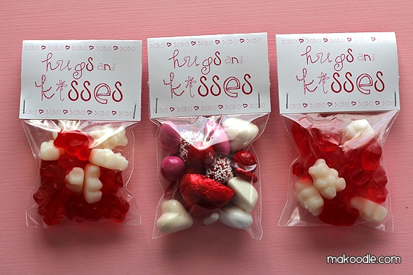 Free Printable Valentine Treat Bag Toppers