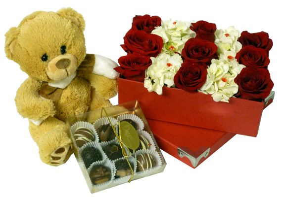 A beautiful bouquet of roses, chocolates & a teddy bear to recognize that special someone in your life. Order yours from Ottawa Flowers today!    Happy Valentine's Day!