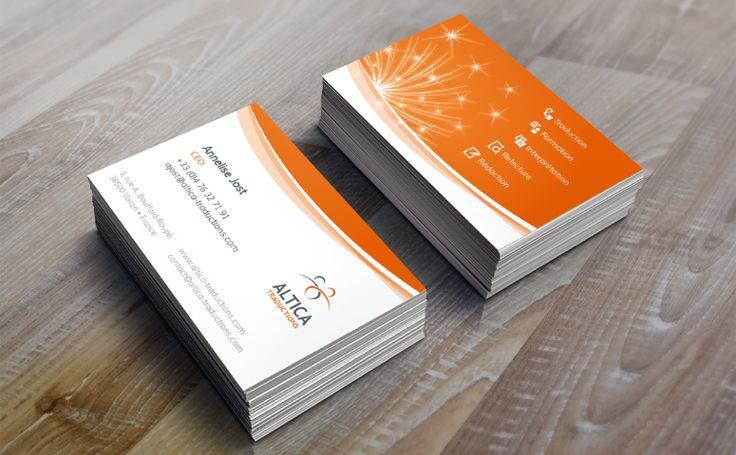 Création graphique de cartes de visite pour la société Altica #identity #print #design