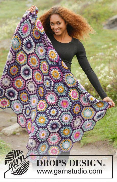 Crochet blanket afghan blanket boho blanket granny's