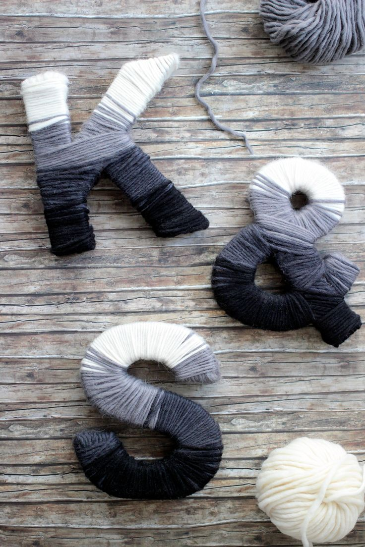 Wollbuchstaben // Yarn Wrapped Letters {DIY}