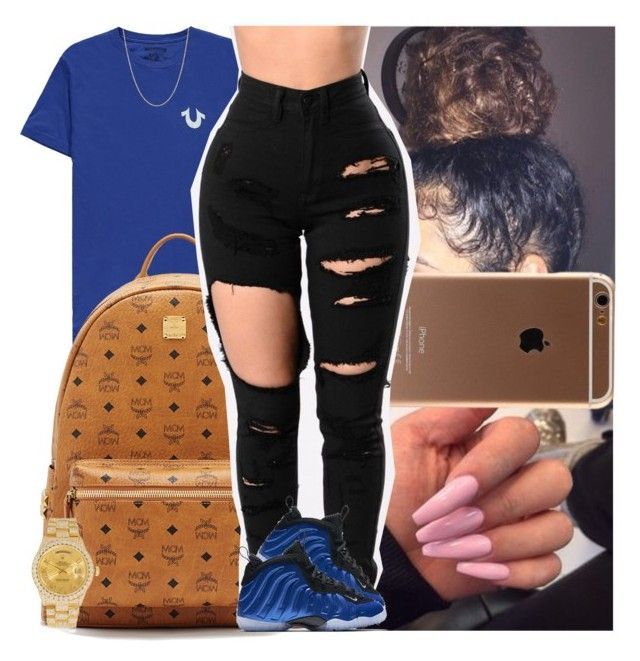 """""""Untitled #1464"""" by msixo ❤ liked on Polyvore featuring True Religion, MCM, NIKE and Rolex"""