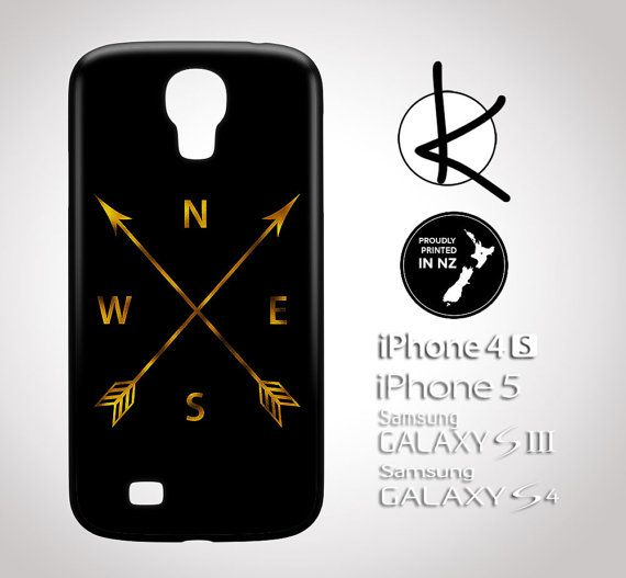 Direction Arrows  Gold Leaf  iPhone 4/4S 5/5S 6 and by Kultured