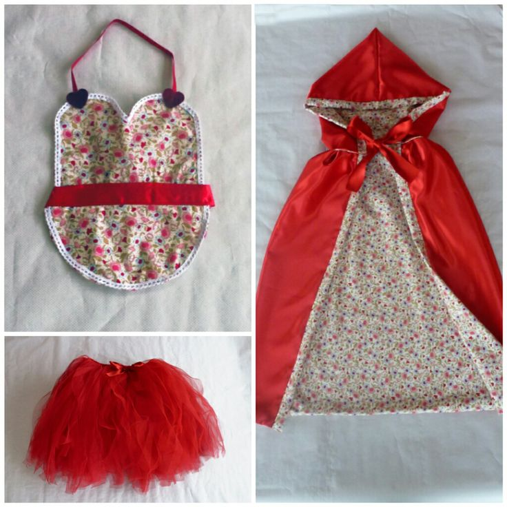 Disfraz casero caperucita roja/ handmade little red riding hood costume