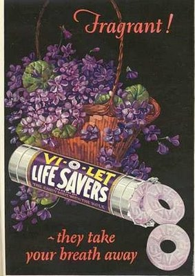 Lifesavers with a smack of violet existed in 1919! Unusual flavors of this time included clove, malt o milk, and licorice.