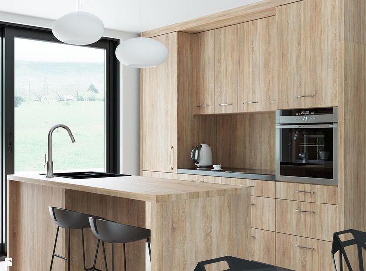 Kuchnia Biel i Drewno - zdjęcie od Houselab - Projektowanie Wnętrz - Kuchnia - Styl Nowoczesny - Houselab - Projektowanie Wnętrz