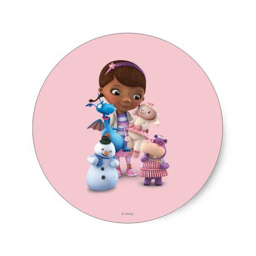 Doc McStuffins and Her Animal Friends. Regalos, Gifts. #sticker