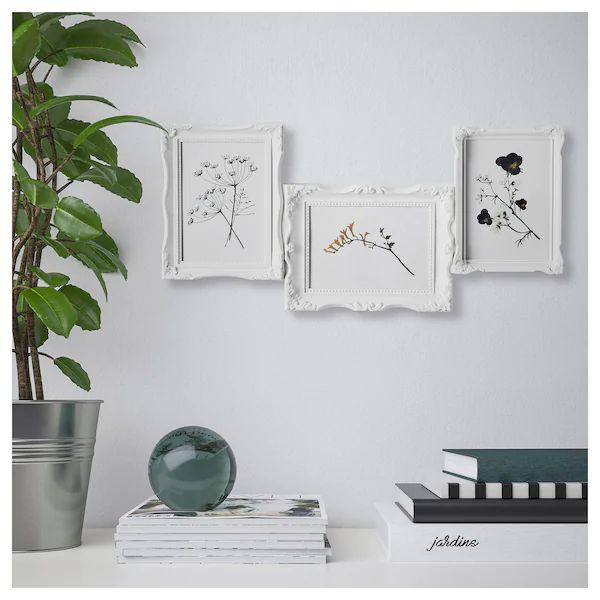 VÄSBY Cornice per 3 fotografie bianco IKEA Quadro de