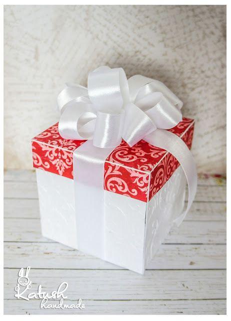 Handmade by Katush: Krabička na peniaze v červenej
