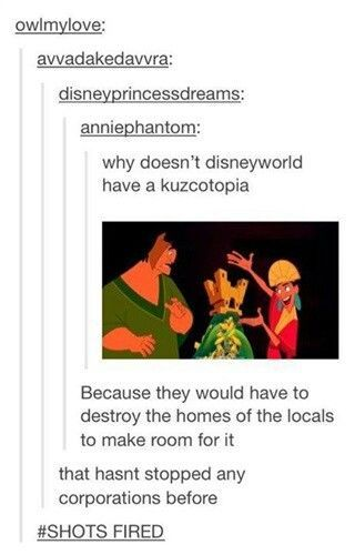 Image result for tumblr text post kuzco fabulous