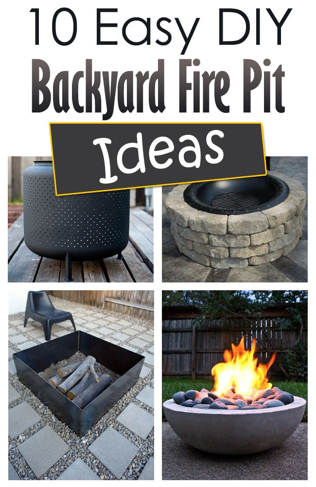 10 Easy DIY Backyard Fire Pit Ideas #DIYFirePit #BackyardProjects