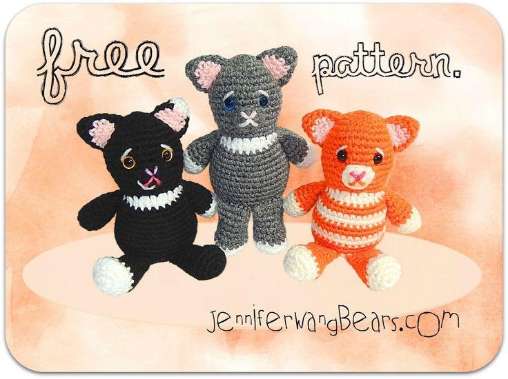 Free Amigurumi Cat : 39 best free cat crochet patterns images on pinterest crochet cats
