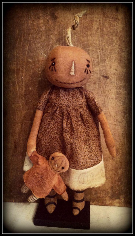 Primitive Pumpkin Sass Doll