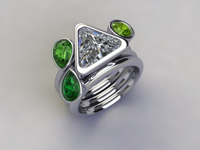 'Mojito' stacker ring available at  www.lucymecklenburghjewellery.com in association with www.diamondgeezer.com
