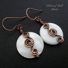copper wire wrapped earrings jewelry by Pillar of Salt Studio
