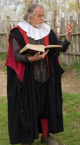 William Brewster Preaching, Plimoth Plantation, Plymouth, MA