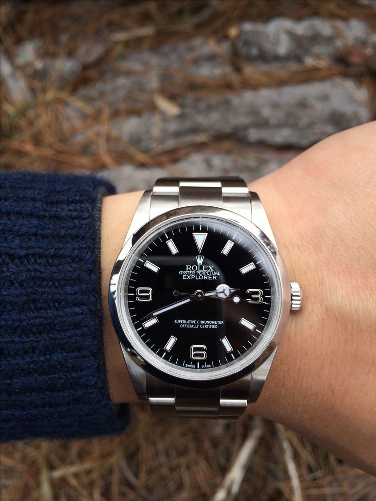 Rolex Explorer. Some say the hands are too short on the new version. I like it. KM