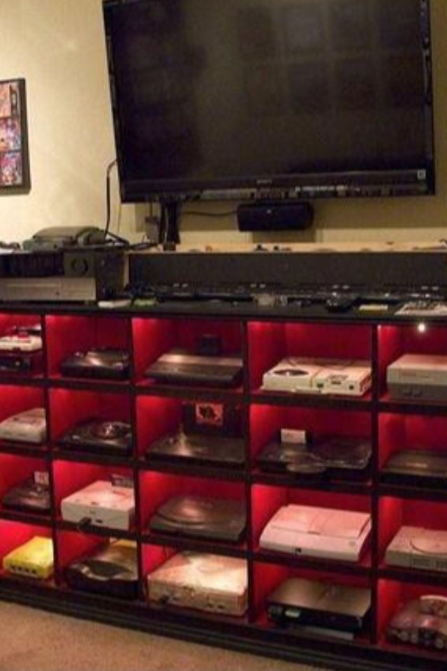 ULTIMATE GAMER SETUP ! Xbox Xbox 360 Playstation 3 Nintendo  Sega Gameboy Atari Flatscreen