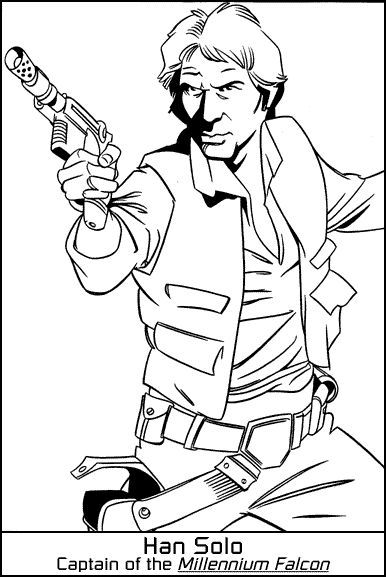 star wars coloring page han solo | embroidery patterns | Pinterest ...