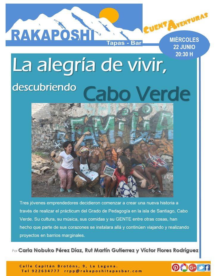 Este miércoles, 22 de junio,  a las 20:30 h en nuestro #cuentaventuras, nos visitan Carla, Rut y Victor. Nos llevan a conocer Cabo Verde y los proyectos solidarios que allí desarrollan. Te esperamos!!!