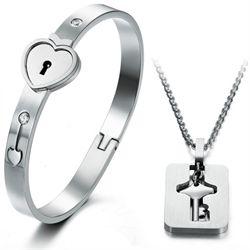 Браслет для нее и кулон ключ для него - оригинальный романтичный подарок символ вашей крепкой и искренней любви!!! Приобрести его можно на сайте www.Подарки-любимым.рф