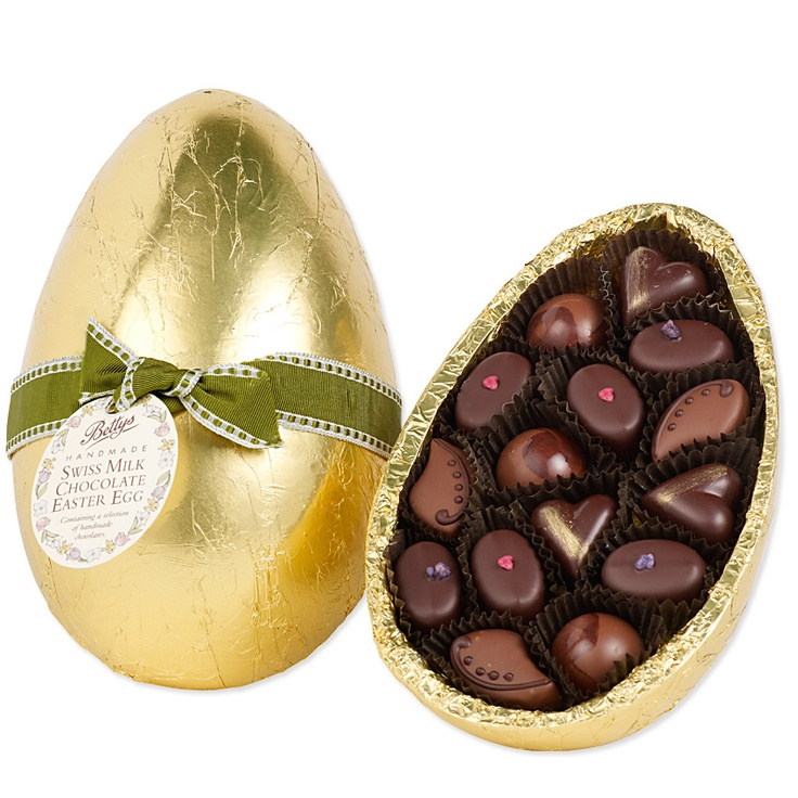 Bettys Milk Chocolate Easter Egg with Handmade Chocolates ...