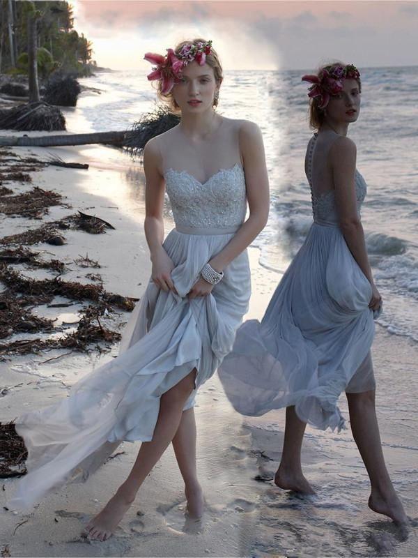 Ivory prom dresses ball gown, A-line Scoop Floor-length Chiffon Prom Dress Evening Dress MK006