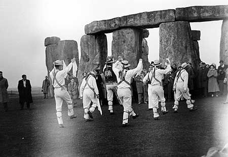 'Morris Dancing' at Stonehenge.  I'm a Morris Dancer!  So much fun... This is a scarf dance, I prefer the sticks.