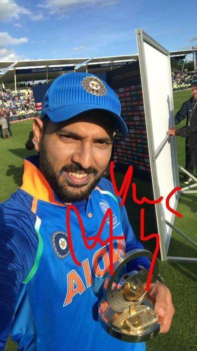 Man of the match Yuvraj Singh #CT2017 #INDvPAK #PAKvIND - http://ift.tt/1ZZ3e4d