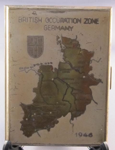 Online veilinghuis Catawiki: Sigarettenetui British Occupation Zone Germany - 1946