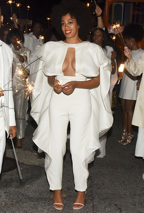 pantsuit. yes, please. Solange Knowles's Looks From Her Wedding Weekend  #InStyle