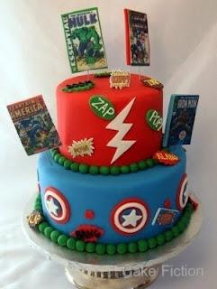 Marvel comics grooms cake