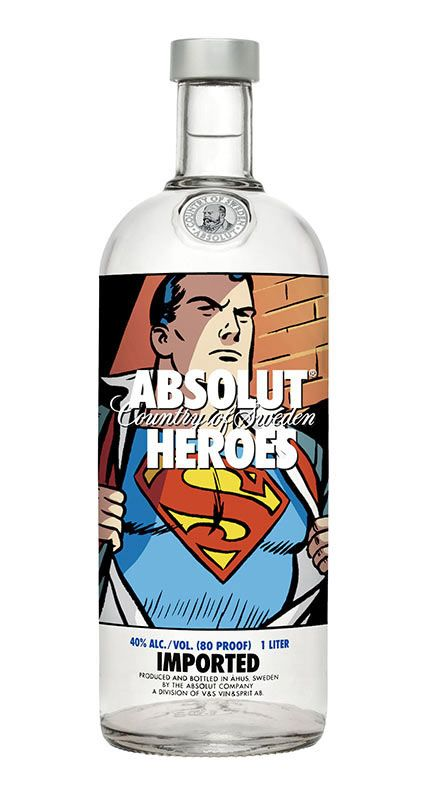 "Absolut Vodka ""Heroes"" Bottles"