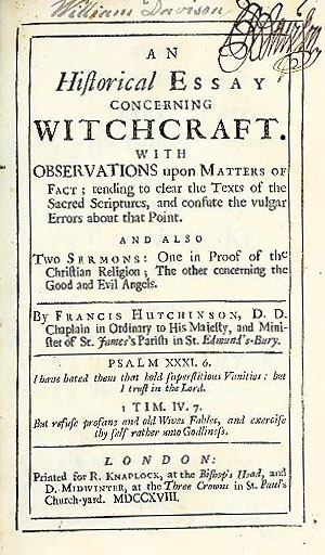best old books of witches images bruges witches  image from hutchinson s historical essay concerning witchcraft