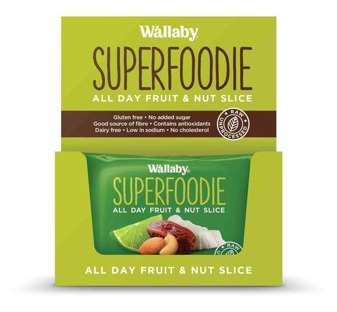 Wallaby - Gluten Free - All Day Fruit and Nut Slices - Coconut Lime