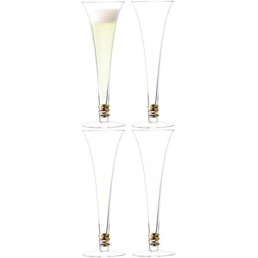 LSA International Prosecco Flutes Gold - Set of 4