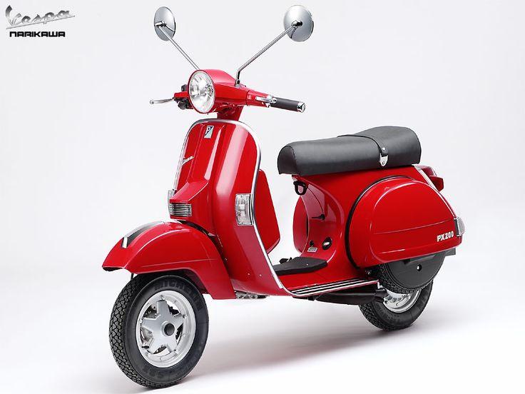 Red Vespa PX 200