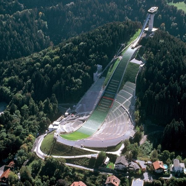 the ski jump at Innsbruck, Austria, by Zaha Hahid.