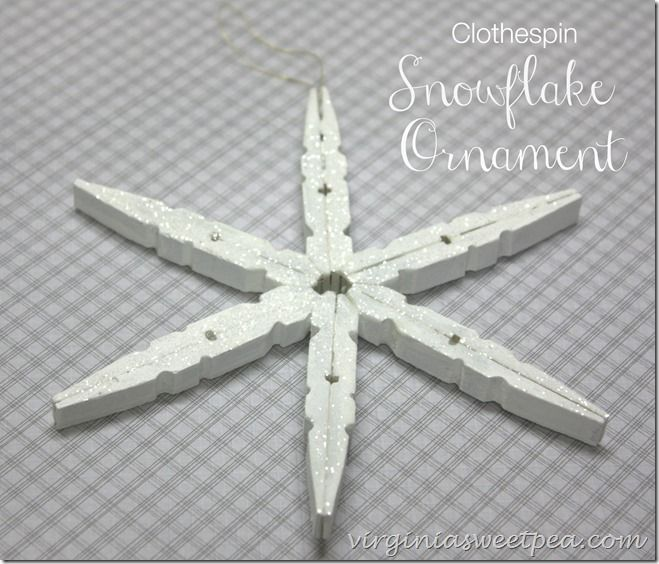 Snowflake Ornament from Clothespins - Sweet Pea