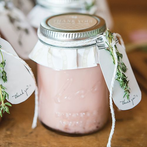 "Just like your Grandma's but a miniature version, this adorable mini mason jar is irresistible. Features an exclusive message that reads ""love perfect mason"", this tiny jar will be hit with your guests regardless of what you choose to pack inside. Available for purchase online at http://madelinesweddings.weddingstar.com/product/mini-mason-jar"