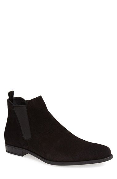 Prada Suede Chelsea Boot (Men) available at #Nordstrom