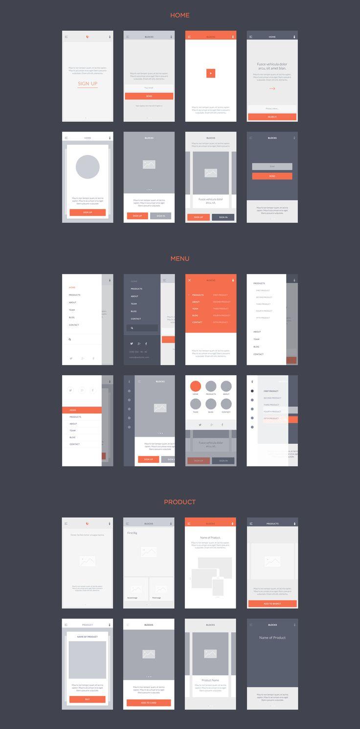 UI8 — Products — Blocks iOS Wireframe Kit