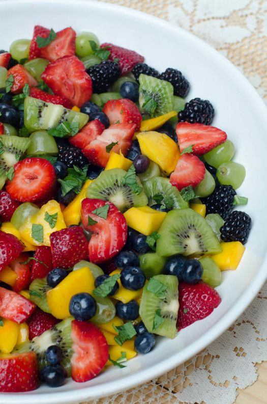 Fruit Salad with Sweet Lime Dressing and a Crisp™ Cooking Tools Giveaway! - From Valerie's Kitchen