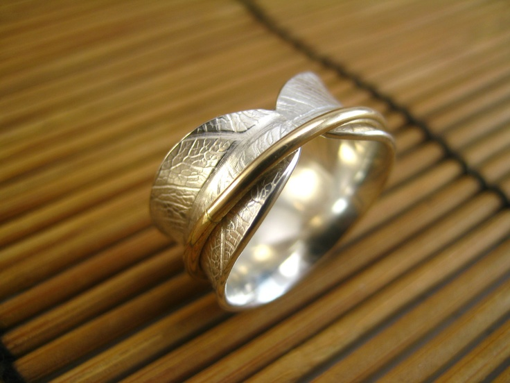 Bodhi Leaf Spinner Ring by stonesthrowjewelry on Etsy, $85.00