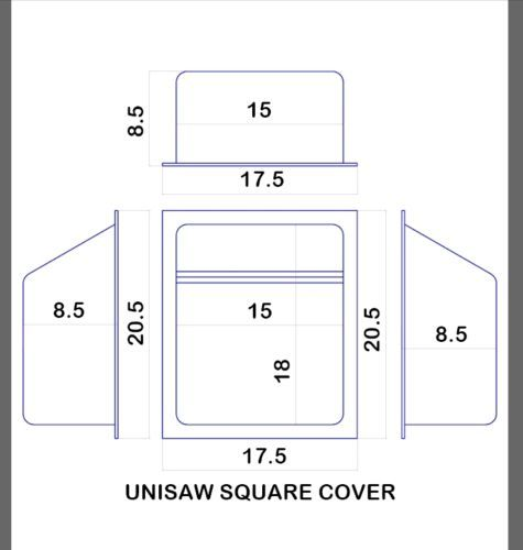 Unisaw-Rockwell-Table-Saw-Replacement-Square-Motor-Cover-NEW
