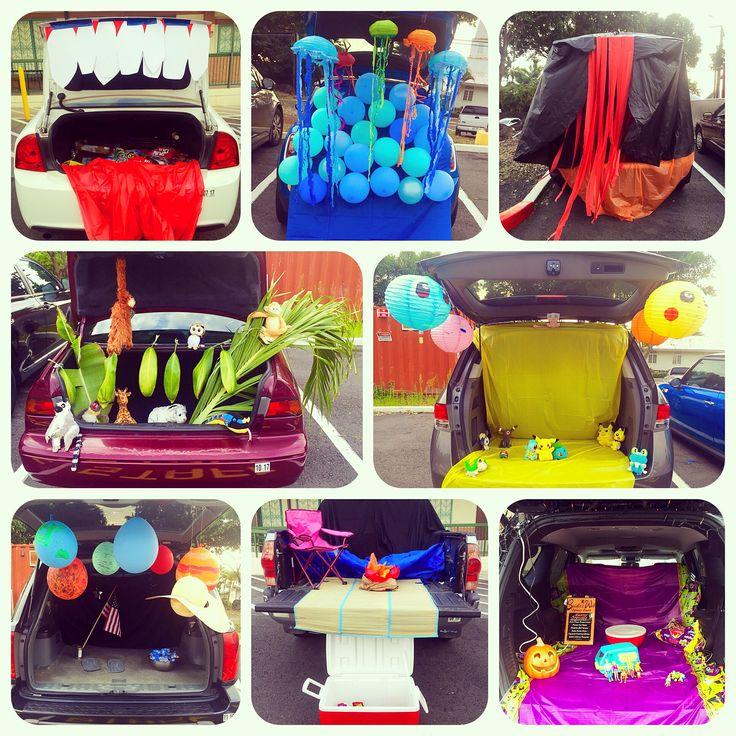 Trunk or treat ideas #mouth #jellyfish #lava #jungle #pokemon #planets #campsite #scoobydoo #trunkortreat
