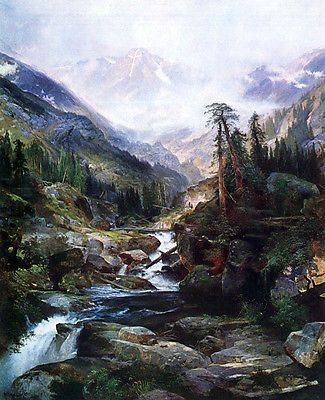 Mountain of the Holy Cross Painting by Thomas Moran (Canvas Art)