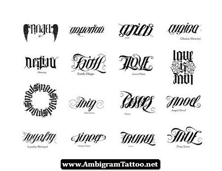 Image Detail For Mean Ambigram Tattoos Designs Amp Symbols Tattoo Meanings